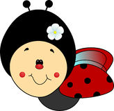 Handdrawn sweet ladybird Stock Photo