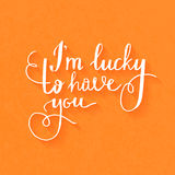 Handdrawn Typography Poster Royalty Free Stock Photo