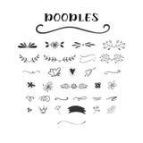 Handdrawn vector doodle set. vector illustration