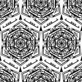 Handdrawn vector ethnic ornamental seamless pattern. Stock Photos