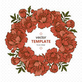 Handdrawn vector poster with place for your text. Unique template wedding card, invitation. Royalty Free Stock Image