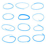 Handdrawn Vector Sketch Circle Set, Could Be Used As Speach Bubb Royalty Free Stock Image