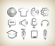 Handdrawn web icons Stock Photo