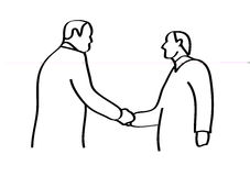 Handdruk stock illustratie