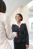Handdruk de bedrijfs van de Vrouw Stock Afbeelding