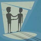 Handdruk de Bedrijfshanden schudden Zwart Overeenkomstenconcept Stock Fotografie