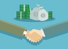 Handdruk - een symbool van een succesvolle transactie Stock Afbeeldingen