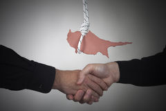 De financiële crisis van Cyprus van het concept Royalty-vrije Stock Foto's