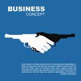 Handdruk met kanonnen Dodend bedrijfs gevaarlijk contract royalty-vrije illustratie