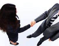 Handdruk van de twee zakenlieden Stock Foto