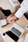 Handdruk van partners Stock Foto
