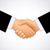 Handdruk van zakenlieden Stock Foto