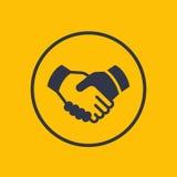 Handdruk, vennootschap, overeenkomstenpictogram stock illustratie