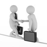 Handdruk. Vergadering twee zakenlieden Stock Afbeelding