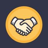 Handdrukpictogram, overeenkomst, vennootschap, het schudden handen royalty-vrije illustratie