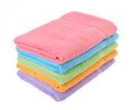 Handduk badlakan på bakgrund. Fotografering för Bildbyråer