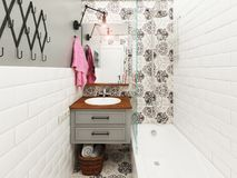 handduk för badrumbunkeinterior Royaltyfri Fotografi
