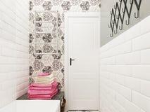 handduk för badrumbunkeinterior Royaltyfria Foton