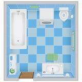 handduk för badrumbunkeinterior royaltyfri illustrationer