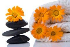 handduk för blommabrunnsortsten Royaltyfri Foto