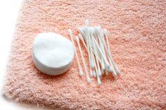 handduk för bomullsswabs Arkivfoton