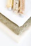 handdukar för 1 badsalt Arkivfoton