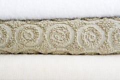 handdukar för bad tre Arkivfoto