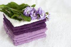 Handdukar för en frotté Arkivbild