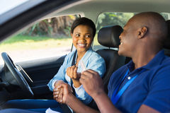 Handed driver's license Stock Images