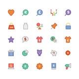 Handel Barwione Wektorowe ikony 5 Zdjęcia Stock