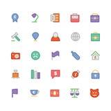 Handel Barwione Wektorowe ikony 3 Zdjęcia Royalty Free