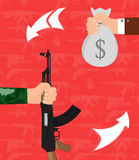 Handel bronią Ilustracji