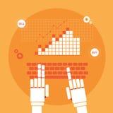 Handel drijvende robothanden Stock Illustratie
