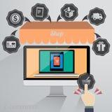 handel elektroniczny Obrazy Stock