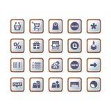 handel elektroniczny ikony ustalony techniczny wektor Zdjęcia Royalty Free