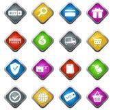 Handel elektroniczny ikony ustawiać Zdjęcie Royalty Free