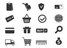 Handel elektroniczny ikony ustawiać Zdjęcia Royalty Free