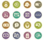 Handel elektroniczny ikony ustawiać Obraz Royalty Free