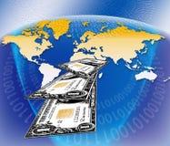 Handel elektroniczny pieniądze Obraz Royalty Free