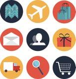 Handel elektroniczny stylowe ikony Obraz Stock