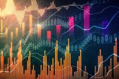 Handel en financiënbehang stock illustratie