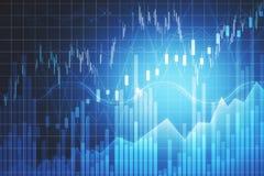 Handel en financi?nachtergrond stock illustratie