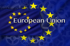 Handel en industrie - Europese Unie Royalty-vrije Stock Foto