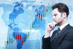 Handel en winstconcept Stock Afbeelding