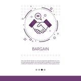 Handel-Handerschütterungs-Vereinbarungs-Abkommen-Netz-Fahne mit Kopien-Raum lizenzfreie abbildung