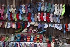 Handel i den Viscri byn Arkivfoton