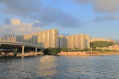 Handel, industrie en industriezone met Kwun Tong Bypass Royalty-vrije Stock Fotografie