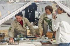 Handel och underhållning på thårsdagen för festival 536 av befrielsen av Ryssland från detTatar oket i den Kaluga regionen royaltyfri bild