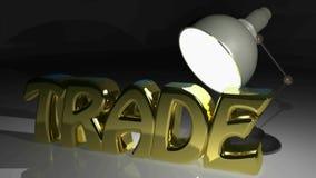 HANDEL pisze pod światłem biurko lampa - 3D renderingu wideo zbiory