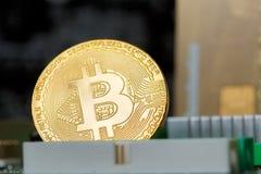 Handel van Cryptoinvestment van de Bitcoin de Digitale Munt stock fotografie